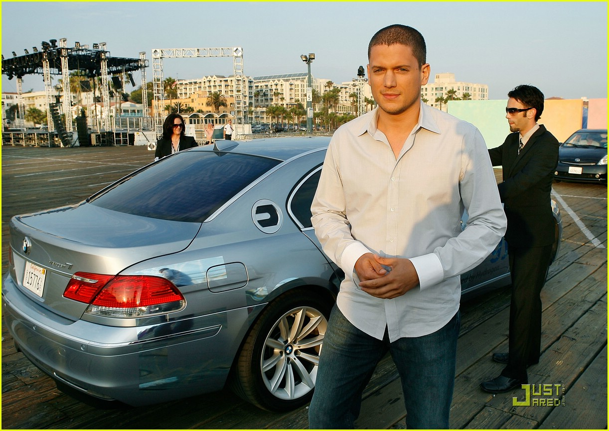 Wentworth with his BMW car